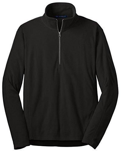 Micro Fleece 1/2 Zip Pullover (Port Authority Microfleece 1/2-Zip Pullover, Black, XXXX-Large)
