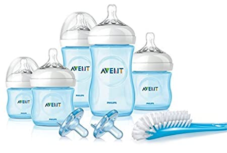 Philips Avent Natural Newborn Baby Bottle Starter Set, Blue, SCD296/12