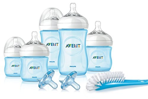 Philips Avent Natural Infant Baby Bottle Starter Set, Blue