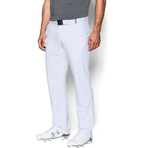 - Under Armour Men's Match Play Golf Pants, White /White, 34/32