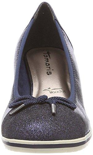 Tamaris Women's 22461 Closed-Toe Pumps Blue (Navy Comb) vx9jgm