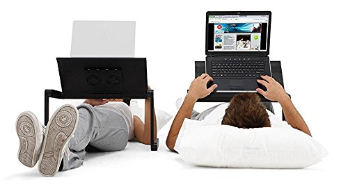 JH-BestCrafts Foldable Adjustable Computer Laptop Desk Stand Table with Mouse Pad Side Mount for Notebook Macbook. Ergonomic Lightweight TV Bed Lap Tray Stand Up / Sitting by JH-Best Crafts (Image #6)