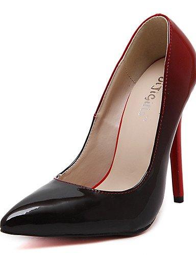 EU 5 di EU39 mujer UK6 Scarpe stiletto noche Fiesta patentado rojo Rosso 5 boda puntiagudos ® n tacones tac ¨ cuero vestito ZQ 36 CN40 US8 tacones gq4xwAA