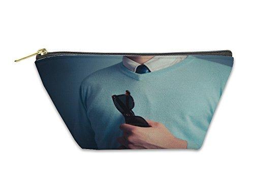 Gear New Accessory Zipper Pouch, Smart Young Man With Sunglasses, Small, - Cambridge Glass Go
