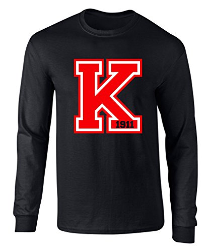 Kappa Alpha Psi K 1911 Long Sleeve T Shirt Sizes up to 5XL Black Extra Large -