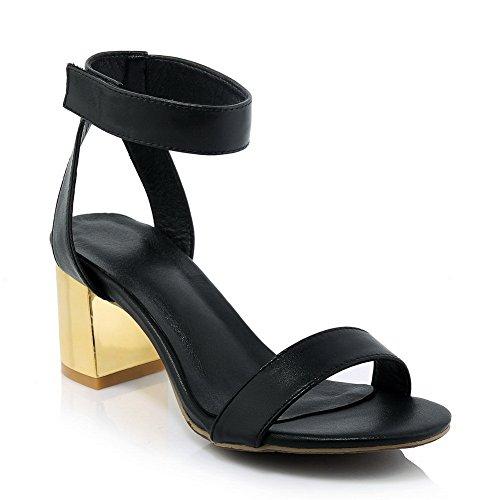 Adee - Sandalias de vestir para mujer Blackpu