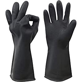Eranqo Multipurpose Premium Quality Non Slip Rubber Reusable Gloves for Gardening Dishwashing Scrubbing and Cleaning