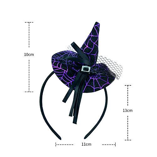 Xuxuou 1 Pcs Chapeau de sorci/ère Bandeau de T/ête Serre-T/ête Halloween avec Chapeau de Sorci/ère pour Enfants D/écoration pour Accessoire Cosplay Halloween Toussaint f/ête