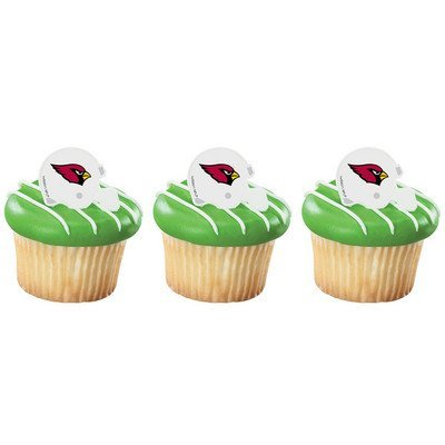 Arizona Cardinals Cupcake Rings 24 Count by MAKCreationsCakeSupply