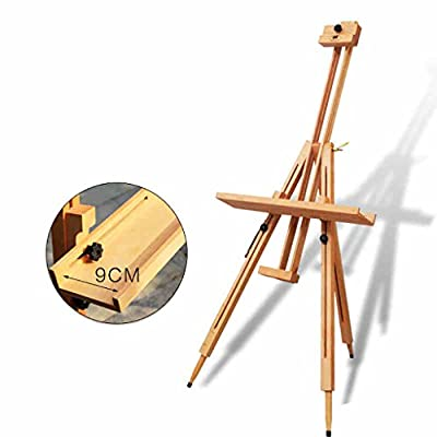 painting easel Wooden Easel Folding Drawing Board Stent Adult Large Triangular Wood Display Stand Multi - Functional Telescopic Bracket Type easels