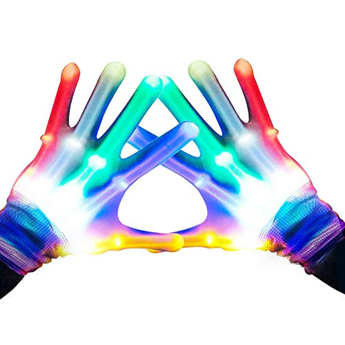 (Gifts for Teen Girls, TOPTOY Flashing LED Gloves Gift Ideas for Teen Boys Girls Autism Cool Toys for 3-12 Years Old Boys Girls)