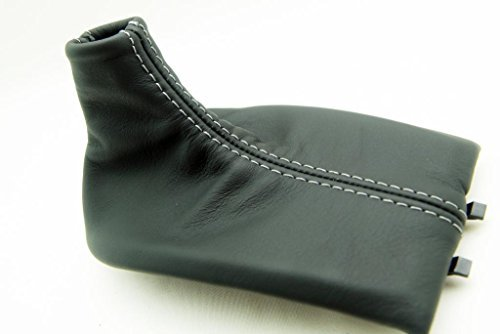 Porsche 911 Shift (Fits 1997-2004 Porsche Boxter, 911, 996, 986 Real Black Leather Shift Boot with Gray stitching. (Leather Part Only))
