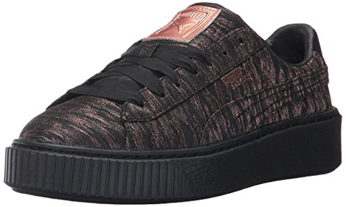 PUMA Women's Basket Platform Sneakers - Black Black (Large Image)