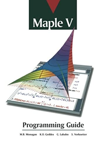 maple v programming guide waterloo maple software inc rh amazon com maple introductory programming guide pdf maple 18 programming guide pdf