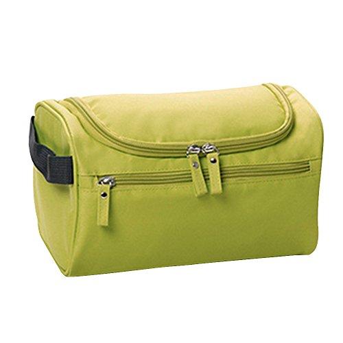 Baiyu Unisex Wash Toiletry Bag Makeup Organizer Handbag Waterproof Cosmetic Bags Household Storage Pack Travel Kit Organizer Bathroom Storage with Hanging Hook