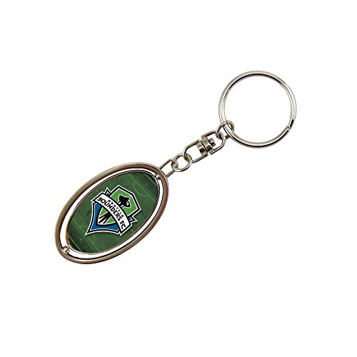 fan products of MLS Seattle Sounders FC Metal Spinner Key Chain, Silver, 3-inch