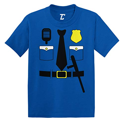 Cop Costume - Police Officer Trooper Infant/Toddler Cotton Jersey T-Shirt (Royal Blue, 5T) -