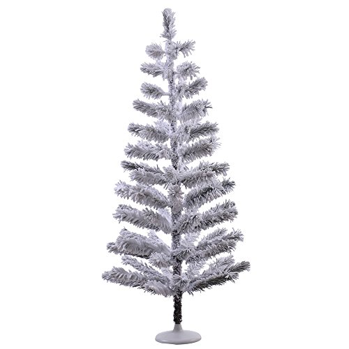 Vickerman Flocked Feather Artificial Christmas Tree, 4' x...
