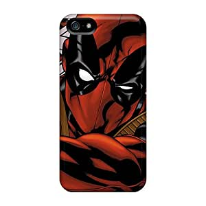 Awesome Deadpool I4 Flip Case With Fashion Design For Iphone 5/5s