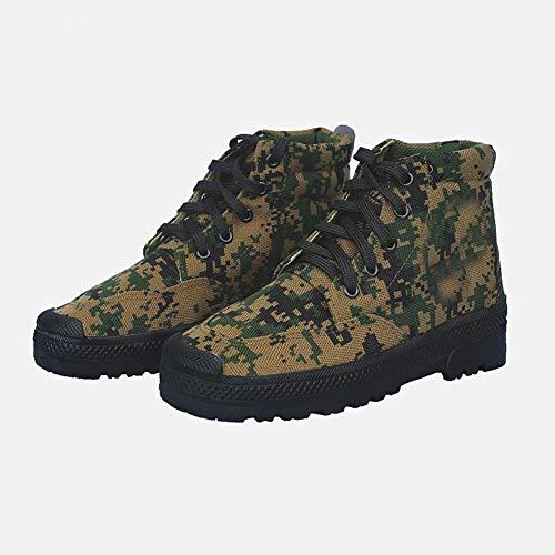 antiscivolo 40 scarpe Labor per tela Rcnrycasual alta gomma all' scarpe assicurazione uomo camouflage da usura e resistente allenamento B di vdSnnIw7qH