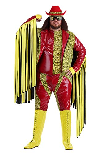Fun Costumes Macho Man Randy Savage Plus Size WWE Costume 3X Red -