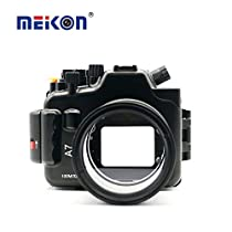 Meikon 100M/325ft underwater waterproof camera Aluminum housing case for Sony A7 28-70mm