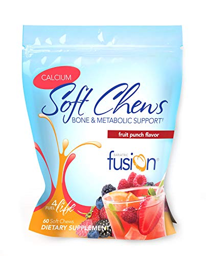 Bariatric Fusion Calcium & Energy Soft Chew Fruit Punch Flavor for Gastric Bypass and Sleeve Gastrectomy, 60 Count For Sale