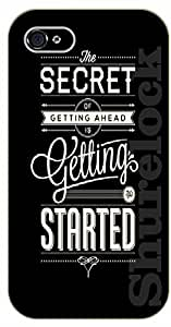 iPhone 4 / 4s The secret of getting ahead is getting started - black plastic case / Walt Disney And Life Quotes