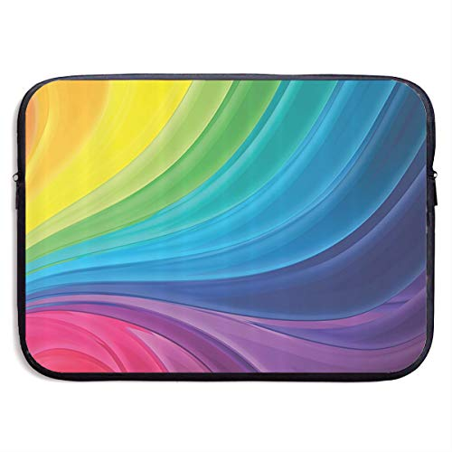 - Ysikfk 13-15 Inch Laptop Case Sleeve with The Smooth Lines of The Rainbow Curve Spiral Printing Design Fits Laptop, Tablet