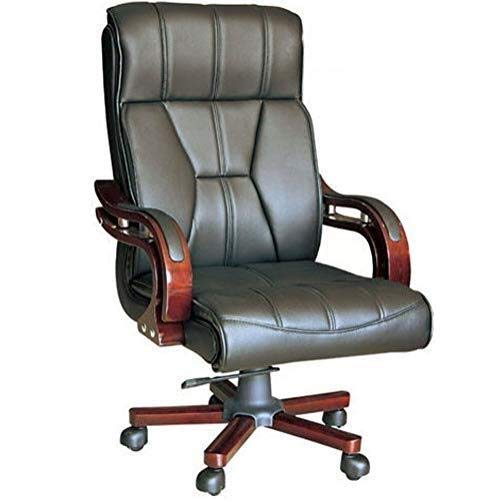 WXF Office Desk Chair, Managers Directors Executive Antique Captain Style PU Leather Adjustable Rolling High Back Computer Desk Reclining ()