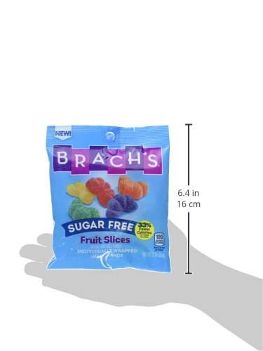 Brach's Sugar Free Fruit Slices Gummy Candy, 3 Ounce Bag, Pack of 12 by Brach's (Image #2)