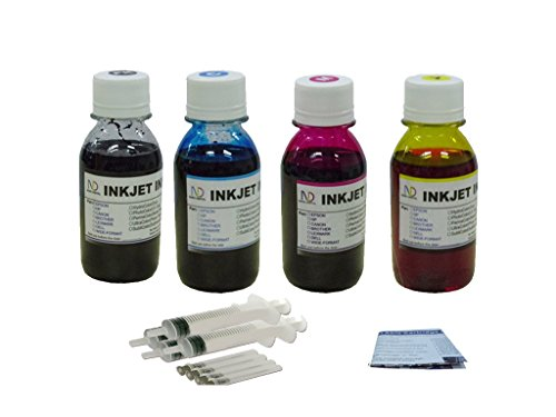 - ND R@ 4x100ml Premium Dye ink refill kit for 63 63XL:OfficeJet 3830 OfficeJet 3831 OfficeJet 3832 OfficeJet 3834 OfficeJet 4650 AIO