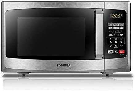 Toshiba EM925A5A-SS Microwave Oven with Sound On Off ECO Mode and LED Lighting, 0.9 cu. ft, Stainless Steel