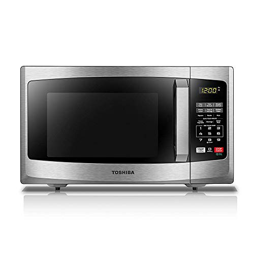 Toshiba EM925A5A-SS Microwave Oven with Sound On/Off ECO Mode and LED Lighting, 0.9 cu. ft, Stainless Steel (Emerson Stainless Steel Microwave 1-3 Cu Ft)