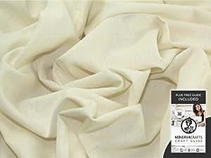 Crema de seda Natural Noile por - 8 metros + libre Minerva Crafts Craft guía