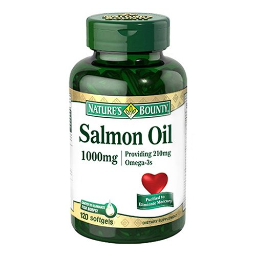 Natures Bounty Salmon Oil Omega-3 1000 mg Softgels - 120 ct (Pack of 3) -