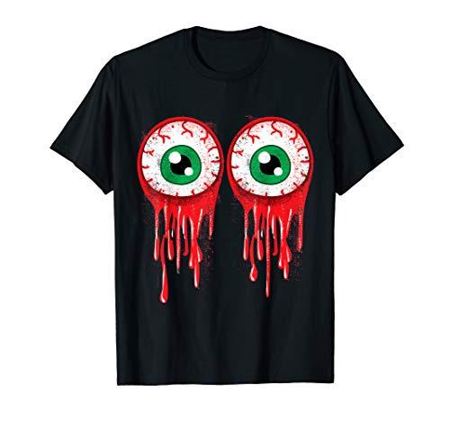 Bloody Boob Eyeballs Halloween Party Shirt Costume T