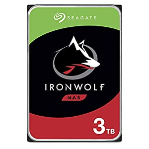 Seagate IronWolf 3TB NAS Internal Hard Drive HDD – CMR 3.5 Inch SATA 6Gb/s 5900 RPM 64MB Cache for RAID Network Attached…