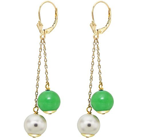 14k-yellow-gold-8-85mm-white-freshwater-cultured-pearl-8mm-simulated-green-jade-lever-back-earrings