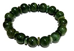 Green Myanmar Jade Bracelets for Good Fortune ,Lucky and Wealth.
