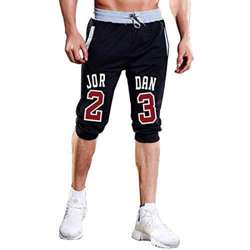 Mens Shorts Jordan 23 Jogger Knee Length Sweatpants Man Fitness Drawstring Short