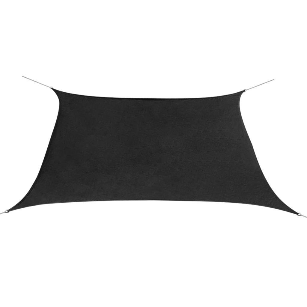 vidaXL Tenda Vela Oxford Impermeabile Triangolare 3, 6x3, 6m Antracite Parasole