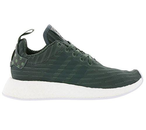 adidas Unisex-Erwachsene NMD R2 W 261 Sneaker Mehrfarbig (Utiivy/Footwear White/Transulent Green Ba7261)