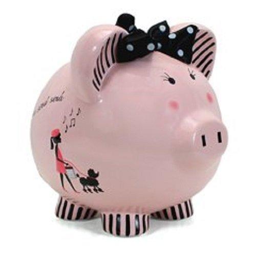 Child to Cherish Ceramic Piggy Bank for Girls, Miss ()