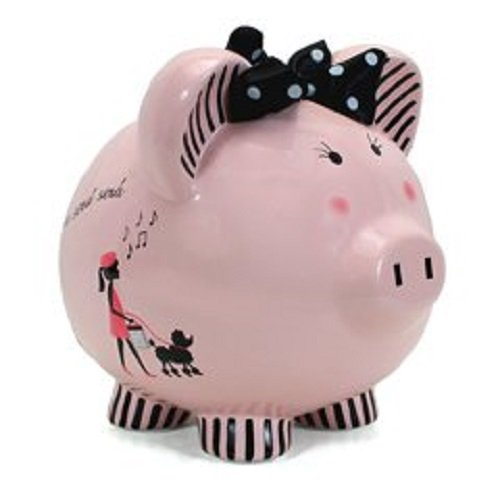 Child to Cherish Ceramic Piggy Bank for Girls, Miss Madeleine