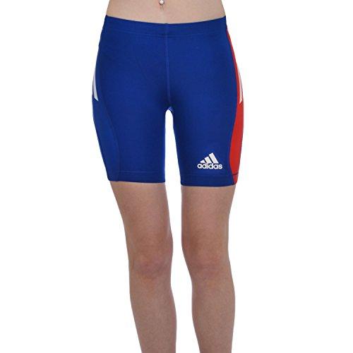 Adidas Donna FR France Shorts Pantaloncini, Blu, Taglia 40