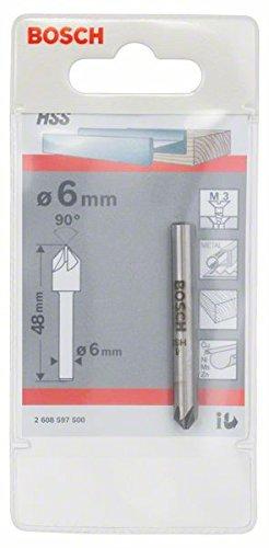 Bosch 2 608 597 500 - Avellanadores có nicos - 6,0 mm, M 3, 48 mm, 6 mm (pack de 1) 2608597500