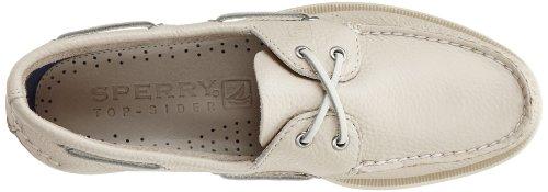 Sperry 0195 - Náuticos de cuero para hombre, color marrón, talla 44,5 Blanco