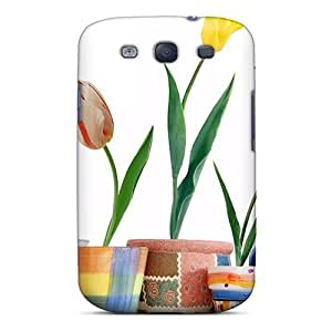 Brand New S3 Defender Case For Galaxy (tulip Flowers 04)