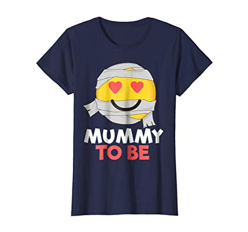 Halloween Mummy Emoji Pregnancy Shirt for Women Pregnant Mom ()